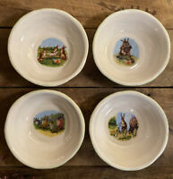 Easter Story Time Williams-Sonoma 2012 Soup Cereal Bowls Set of 4 - Rabbits