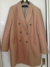 Zara Camel Double Breasted Coat Size XL