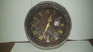 VINTAGE BEER Keg Clock 1960s BEER LIQUOR Barrel FAUX WOOD