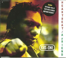 KRS ONE Heartbeat RADIO TRK & Step Into REMIXES w/ PUFF DADDY CD single SEALED