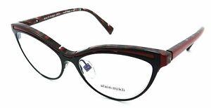 Alain Mikli Rx Eyeglasses Frames A03072 002 54-16-140 Matte Black / Red Italy