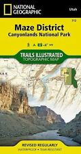 National Geographic Trails Illustrated Utah Canyonlands Maze District Map 312