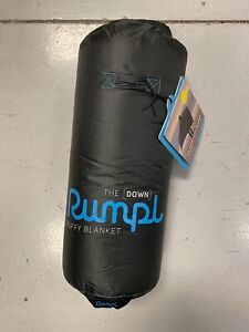 Rumpl Down Puffy Blanket (1 person) - Black/Cyan