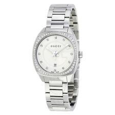 Gucci YA142505 White Dial Stainless Steel Diamond Women's Watch