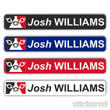 6 x PERSONALISED BLACK COUNTRY FLAG BIKE BICYCLE NAME STICKERS CYCLE BMX RACING