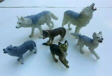 Schleich Safari Ltd. Timber Wolves Lot of 6 Wolf Toy Figures
