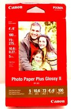 Canon Photo Paper Plus Glossy II 4 x 6-Inch 100 Sheets - 2311B023