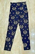 Vintage Leggings Roberto Robledo S Black & Gold Pattern 26� x 35� Poly/Cotton Us