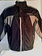 Free Country Extreme Men's Cold Weather Jacket Fleece Lined Size M Black/Gray