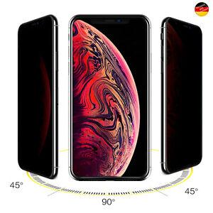 Blickschutzfolie 9H Schutzglas Für iPhone 7 8 11 12 13 Pro Max Privacy Anti-Spy