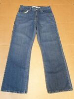 MENS LEVI'S TROUSER FADED BLUE RELAXED STRAIGHT LEG DENIM JEANS W30 L30