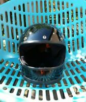 Vintage 70s BELL STAR 120 Full Face Helmet Black  sz 7 5/8  61cm