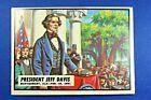 "1962 Topps Civil War News - #2 "" President Jeff Davis - Ex++ Condition"