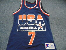 VINTAGE CHAMPION TEAM USA SHAWN KEMP BASKETBALL JERSEY SIZE 36