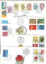 6 LETTRES FDC SUISSE ANNEE COMPLETE 1972