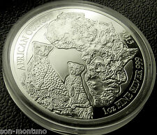 2013 Rwanda  CHEETAH PROOF  1 Oz Silver  African Wildlife Coin  ONLY 1000 MINTED