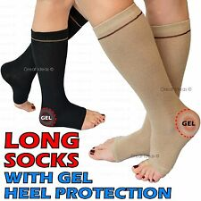 Gel Enforced HEEL Ankle SOCK Pain Protector Achilles Compression Dry Hard Skin