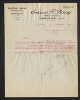 """SAINT-CLAUDE (39) TRAVAUX PUBLICS / BETON Armé """"Ets F. BOSSY"""" en 1926"""