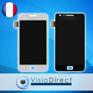 Ecran complet pour Samsung galaxy S2 i9100 blanc ou noir vitre tactile+ecran LCD