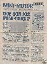 ANGUPLAS MINI CARS DEPLIANT 4 PAGES AVEC 63 MODELES 1/86 REPRESENTES ANNEE 1960
