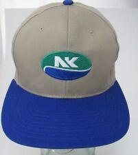 Novartis Seeds NK Logo Baseball Cap Khaki Blue Farmer Hat Adjustable A8