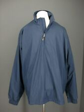 NIKE GOLF Windbreaker Jacket XL Blue Clima Fit Half Zip Long Sleeve