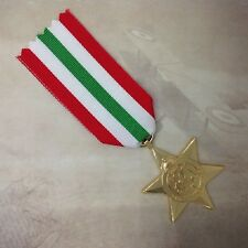 ITALY STAR MEDAL | GOLD TONE | WWII | WORLD WAR TWO | MILITARY | AUSTRALIA