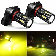 JDM ASTAR 2x 3030 H10 9145 LED Fog Driving Lights Golden Yellow Bulbs Lamps HP