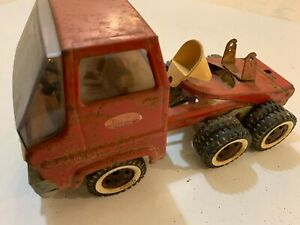 Vintage toy by Tonka tin toy pressed steel, red cement truck cab