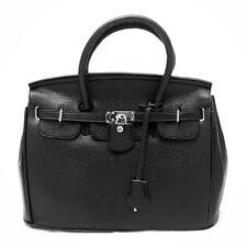 Celebrity Lady PU Leather Tote Handbag Lock Shoulder Designer Satchel bag JB