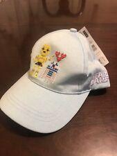 NWT STAR WARS R2D2 C3PO Love LightBlue Baseball Cap Hat Adjustable YOUTH Kid Hat