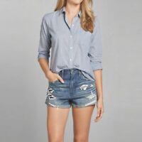 NWT Abercrombie & Fitch Women's Plaid Button Down Shirt Size Medium M