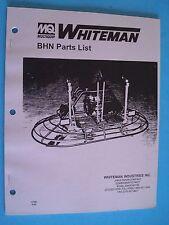 MQ Whiteman BHN Power Trowel Parts List   10766   9-95