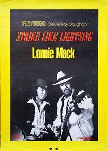 LONNIE MACK - STEVIE RAY VOUGHAN - STRIKE LIKE LIGHTNING POSTER SMALL