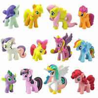 Lot of 12Pcs My Little Pony Cake Toppers PVC Action Figures Kids Toy Dolls TG016