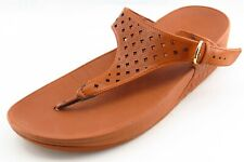 FitFlop Size 39 M Brown Flip Flop Synthetic Women Sandal Shoes