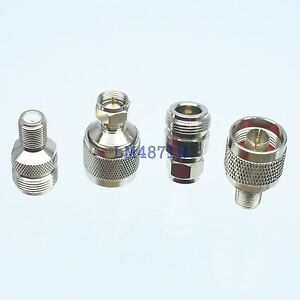 Kit Adapter 4pcs/set N to F type male female RF connector Test converter