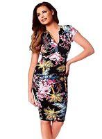 New Women's Jessica Wright Samantha Bodycon Dress Tropical Black/Multi UK 12