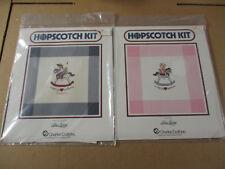 Alma Lynne Hopscotch Kit Two Cross Stitch NIP Boy & Girl on Rocking Horses Twins