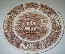 DINNERWARE Alfred Meakin Four Winds Brown Dinner Plate Ship Friendship of Salem