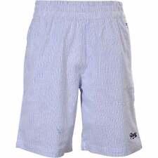 Men's Tommy Hilfiger Organic Cotton Seersucker Lounge Shorts, White/Blue