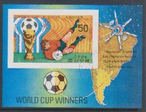 Korea - 1978, History of World Cup Football sheet - F/U - SG MSN1743 (b)