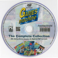 THE GAMES MACHINE UK MAGAZINE Full Collection on Disk AMIGA/ATARI ST/AMSTRAD/C64