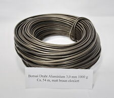 Bonsai Aluminiumdraht eloxiert 1000 gr Rolle 3,0 mm ca. 54  m