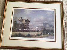 Castillo de Edimburgo enmarcado impresión, Firmado R. Forsyth