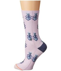 Stance Women's 245188 Polka Pineapple Lilac Ice Crew Cut Socks Shoes Size M