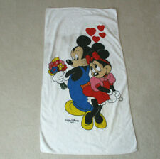 VINTAGE Disney Mickey Mouse Towel White Blue Minnie Mouse Walt Disney Pool *