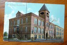 1912 Marion School Cleveland Ohio Antique Postcard - Used