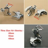 Chrome 39/41/49mm Quick Release Windshield Clamps Fit For Harley Dyna&Sportster