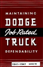 1941 1946 1947 Dodge Truck Owners Manual User Guide Reference Operator Book